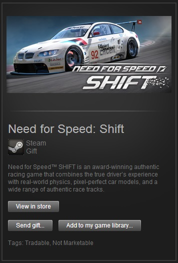Need for Speed Shift (Steam Gift / Region Free)