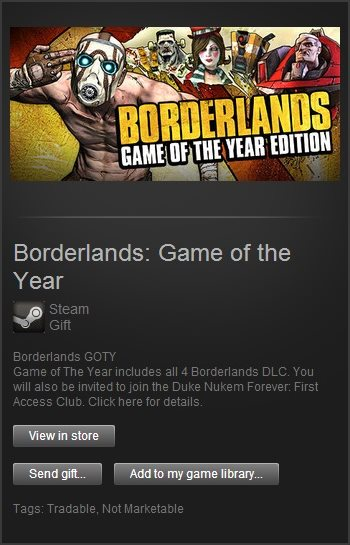 Borderlands Game of the Year (Steam Gift / Region Free)