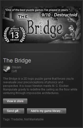 The Bridge (Steam Gift / Region Free)