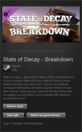 State of Decay - Breakdown (Steam Gift / Region Free)
