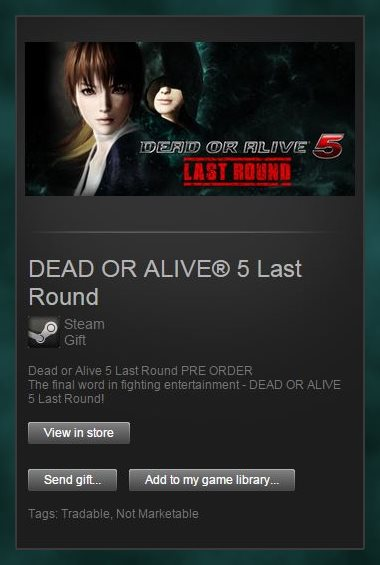 Dead or Alive 5 Last Round Pre Order (Steam Gift / ROW)