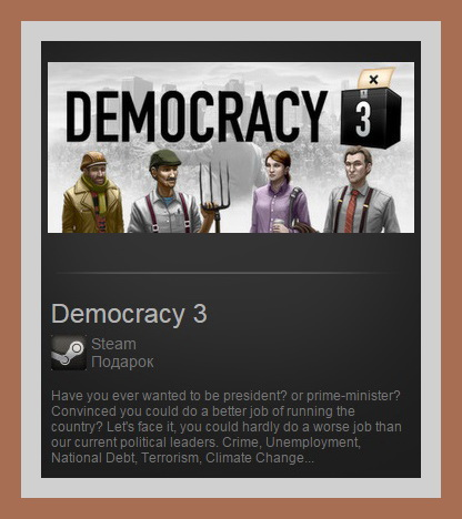 Democracy 3 (Steam Gift ROW / Region Free)