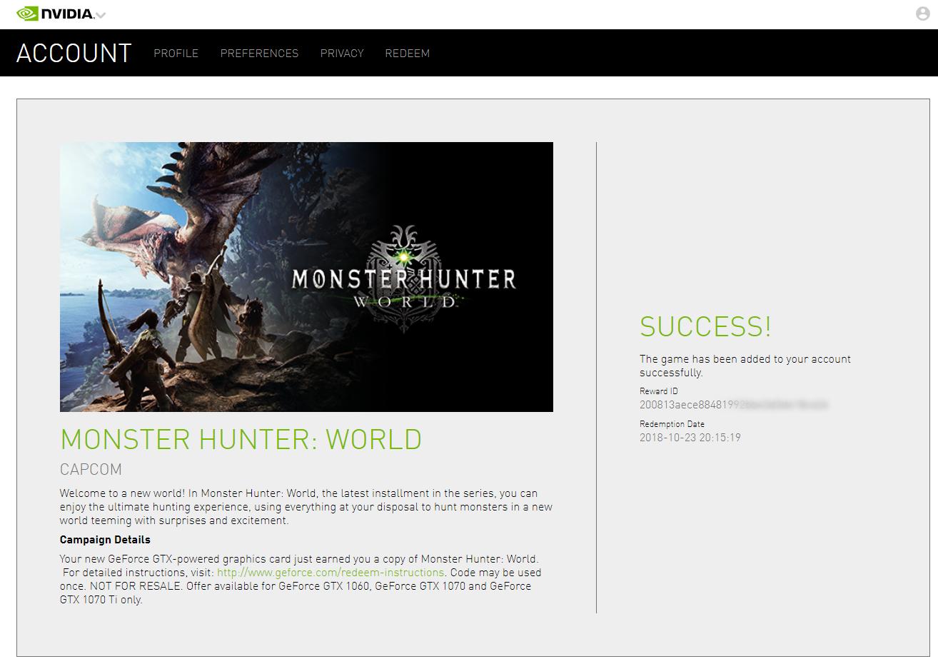 Buy Monster Hunter: World (Steam Nvidia KEY / REGION FREE