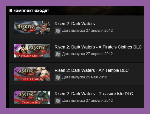 Risen 2: Dark Waters Gold Edition (Steam Region Free)