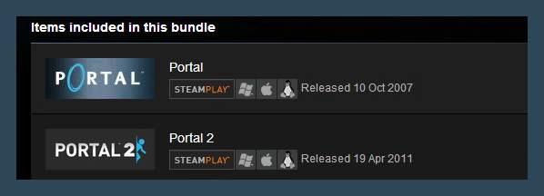 Portal Bundle (Steam Gift ROW / Region Free)