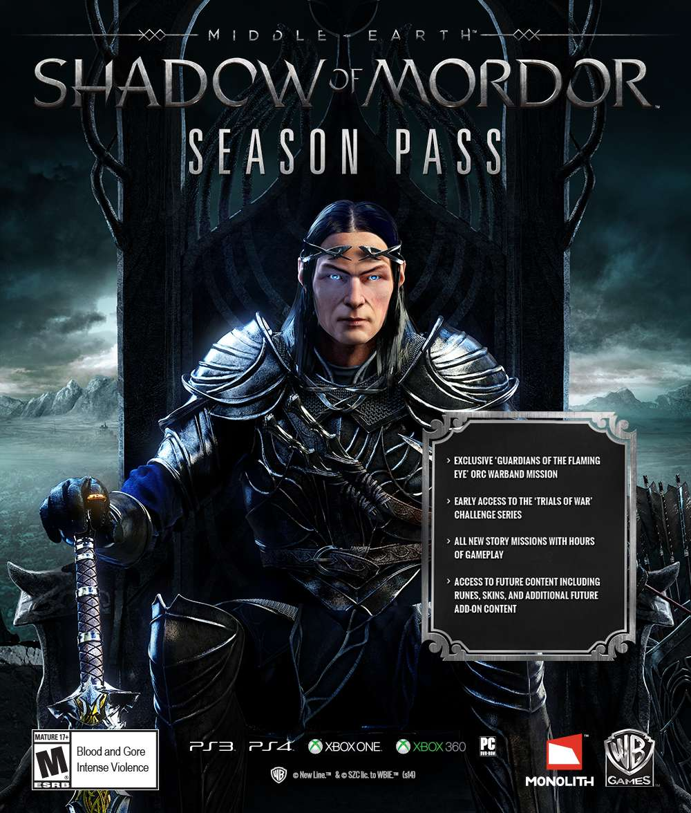 Middle Earth: Shadow of Mordor Season Pass (Steam ROW)