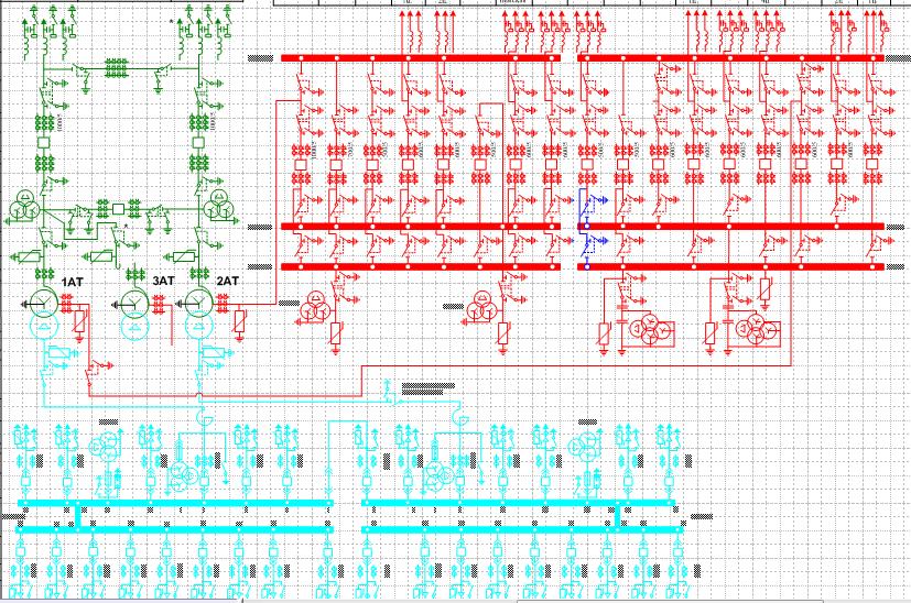 ОРУ-110 две системы шин с обходной.  ЗРУ-10 одна секционированная.