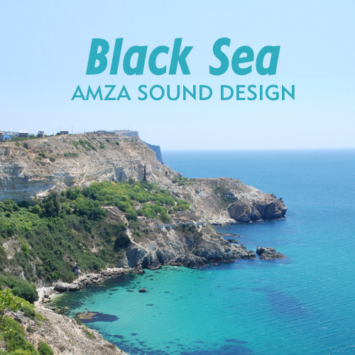 Audio recording sounds of the Black Sea for meditation