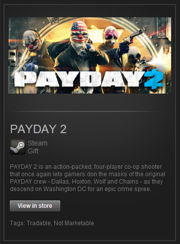 Payday 2 - (Steam Gift/Region Free) (ROW) + подарок