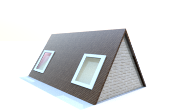 Models with a mansard roof 3pc.