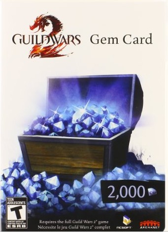 Guild Wars 2 Gem Card 2000 ( СКАН/SCAN ) + СКИДКИ
