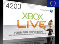 xBox Live! - EU+RU - 4200 MS Points Card