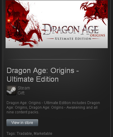 Dragon Age Origins: Ultimate Edition - STEAM ROW / free