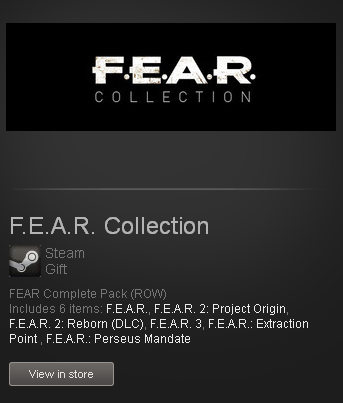 FEAR Complete Pack Collection - STEAM Gift - free / ROW