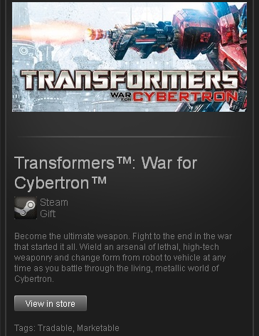 Transformers War for Cybertron - Steam Gift ROW / free