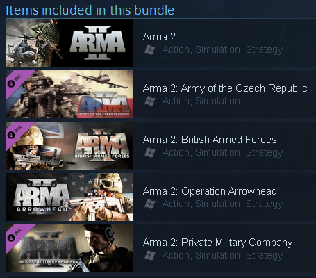 Arma 2 Complete Collection + DayZ - STEAM - ROW / free