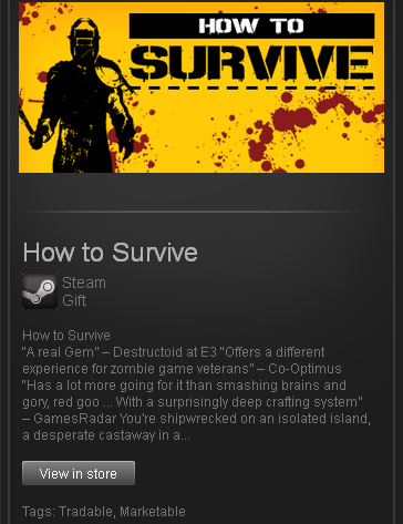 zzzz_How to Survive (ROW) - Steam Gift - Region Free