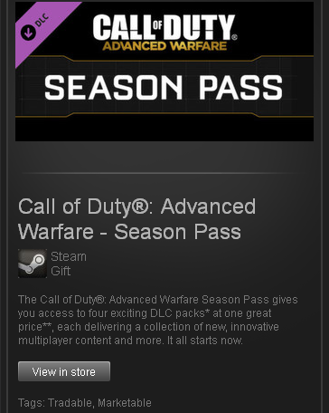 Call of Duty Advanced Warfare Season Pass - Steam / ROW