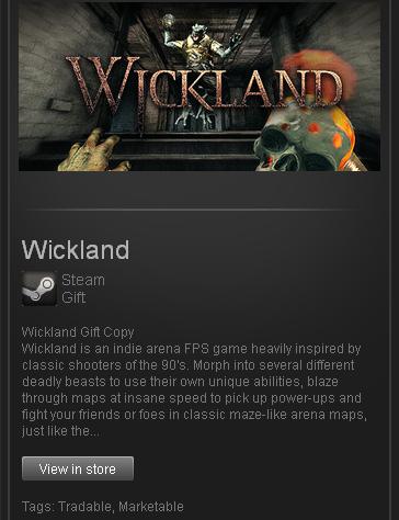 Wickland (ROW) - STEAM Gift - Region Free