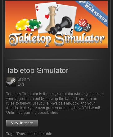 Tabletop Simulator - (STEAM Gift - region RU+CIS+UA**)