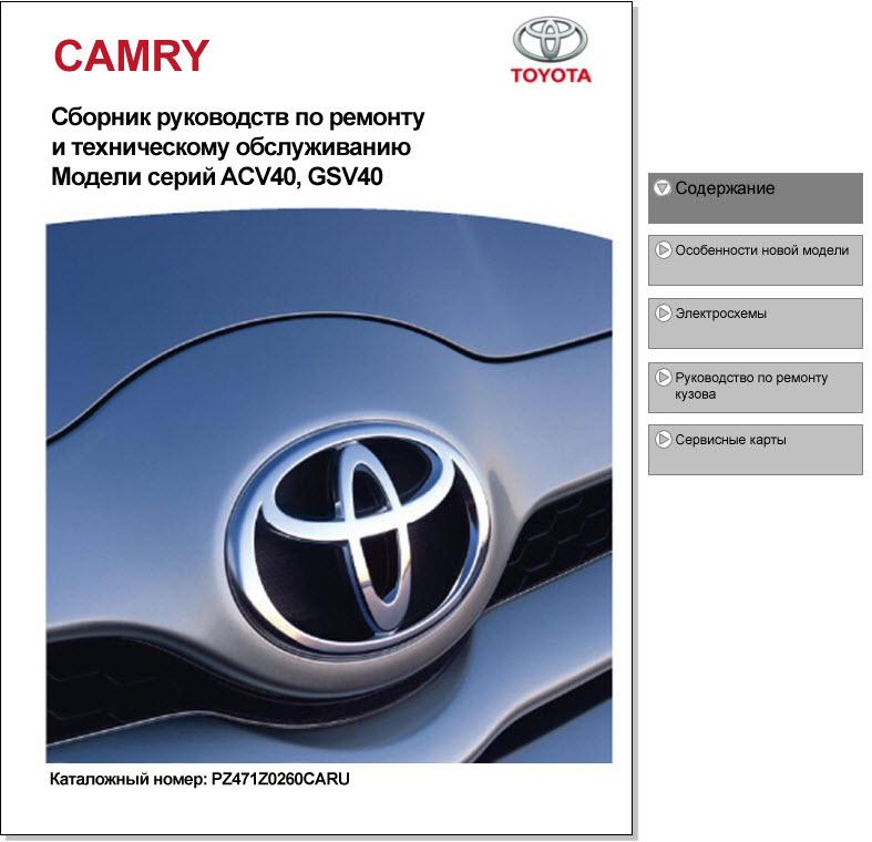 Toyota_Camry_ACV40  GSV40 (мультимедиа)