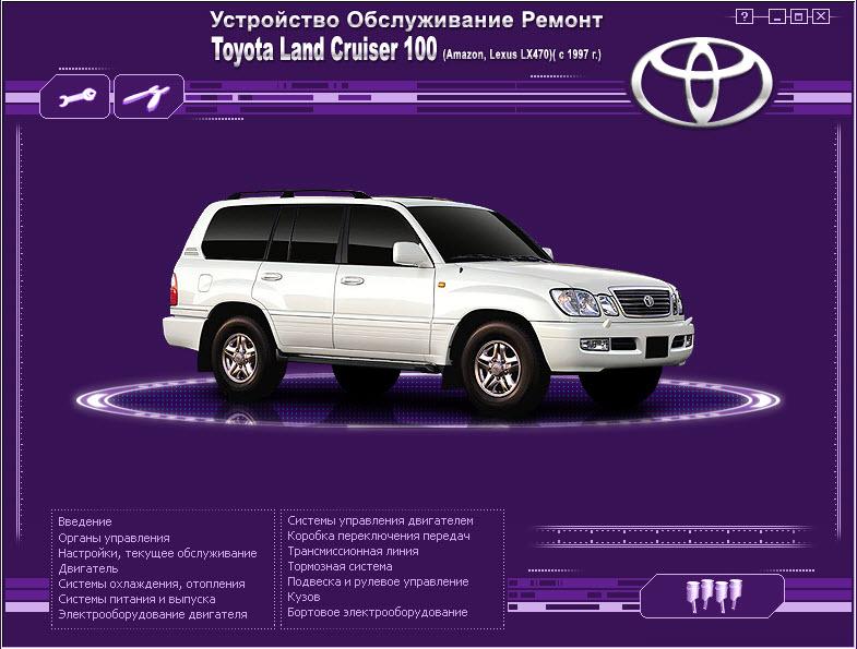 Toyota_Land Cruiser 100  (1997г) мультимедиа