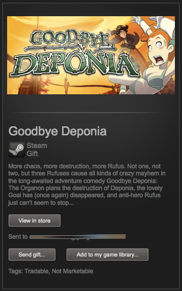 Goodbye Deponia (Steam Gift / Region Free / ROW)+скидка