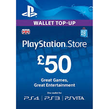 50£ GBP psn pounds key