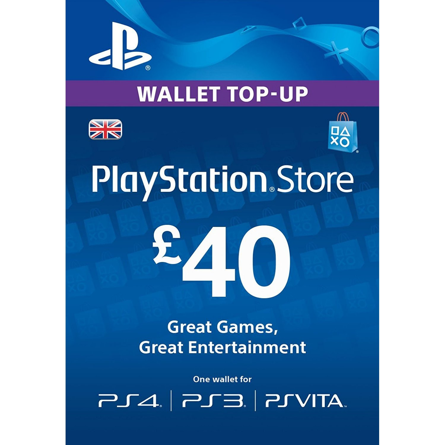 40£ gbp psn pounds key