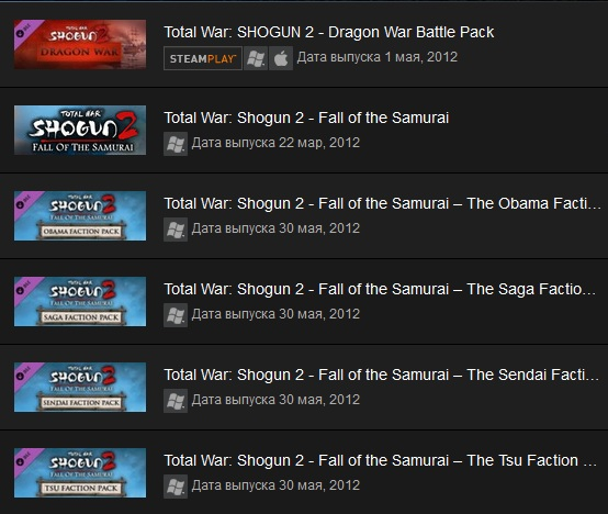 Shogun 2 Fall of the Samurai Collection Steam Gift ROW