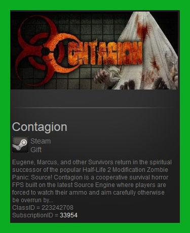Contagion (Steam Gift / Region Free / RoW)