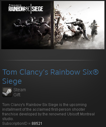 rainbow six siege uplay activation code steam