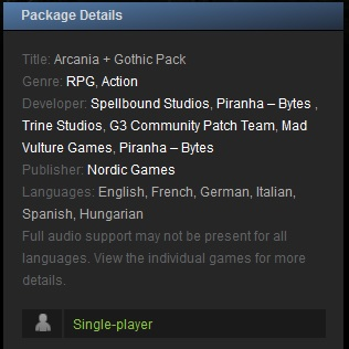Arcania + Gothic Pack (Steam Gift  Region Free)+Подарок