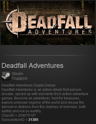 Deadfall Adventures Pre-P (Steam Gift  ROW Region Free)