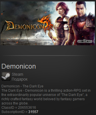 Demonicon -The Dark Eye (Steam Gift ROW  Region Free)