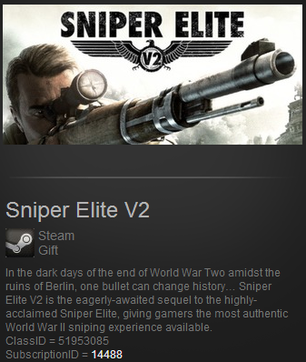 Sniper Elite V2 Steam Gift (ROW) +ПОДАРОК