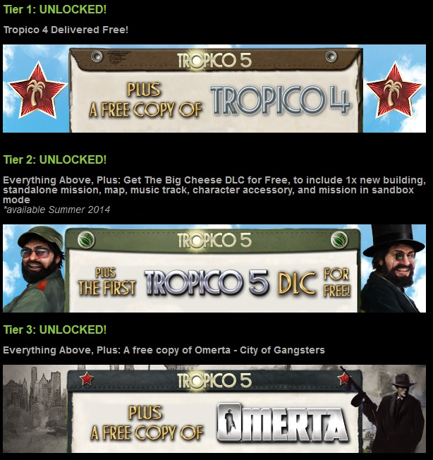 Tropico 5 SE+Tropico 4+Omerta (Steam Account Reg Free)
