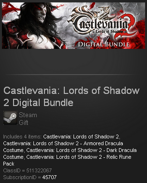 Castlevania Lords of Shadow 2 Dig Bundle Steam Gift ROW