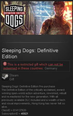 Sleeping Dogs Definitive Edition (Steam Gift ROW)