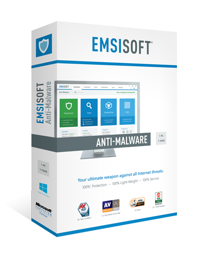 yEmsisoft Anti-Malware 1 YEAR / 1 PC REGION FREE