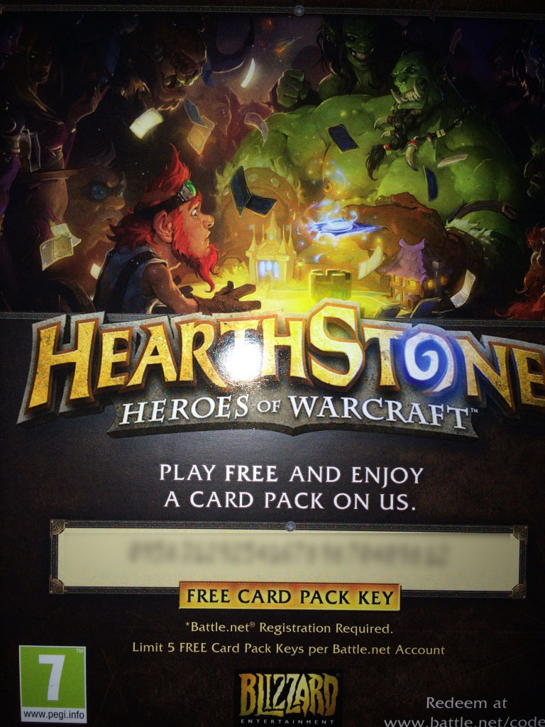 Hearthstone Expert Pack Key (5 cards) - Region Free