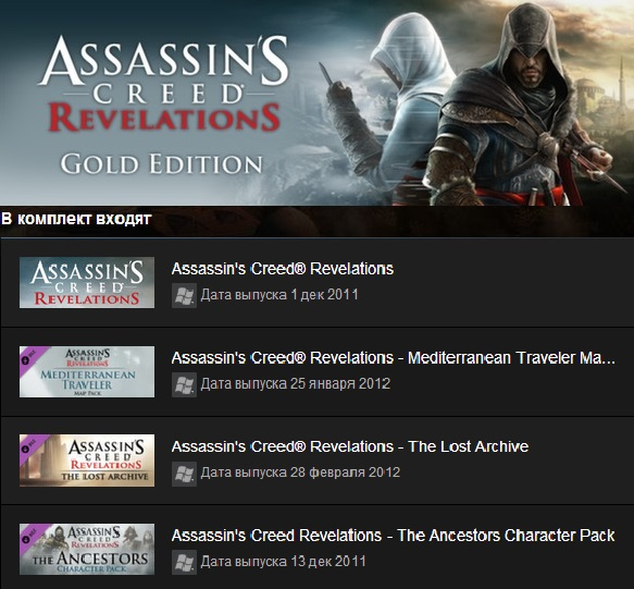 Assassins Creed Revelations Gold  (Steam Gift / ROW)
