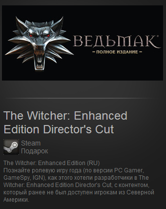 The Witcher: Enhanced Edition Director´s Cut (Steam/RU)