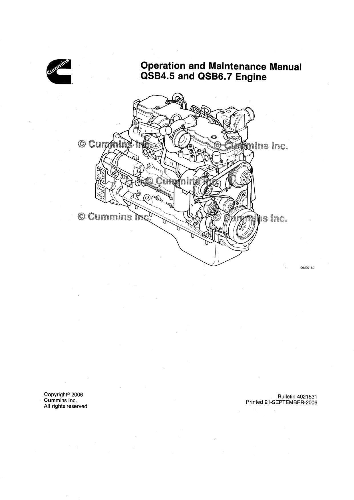 Ремонт и эксплуатация CUMMINS QSB4.5 AND 6.7(Tier3)