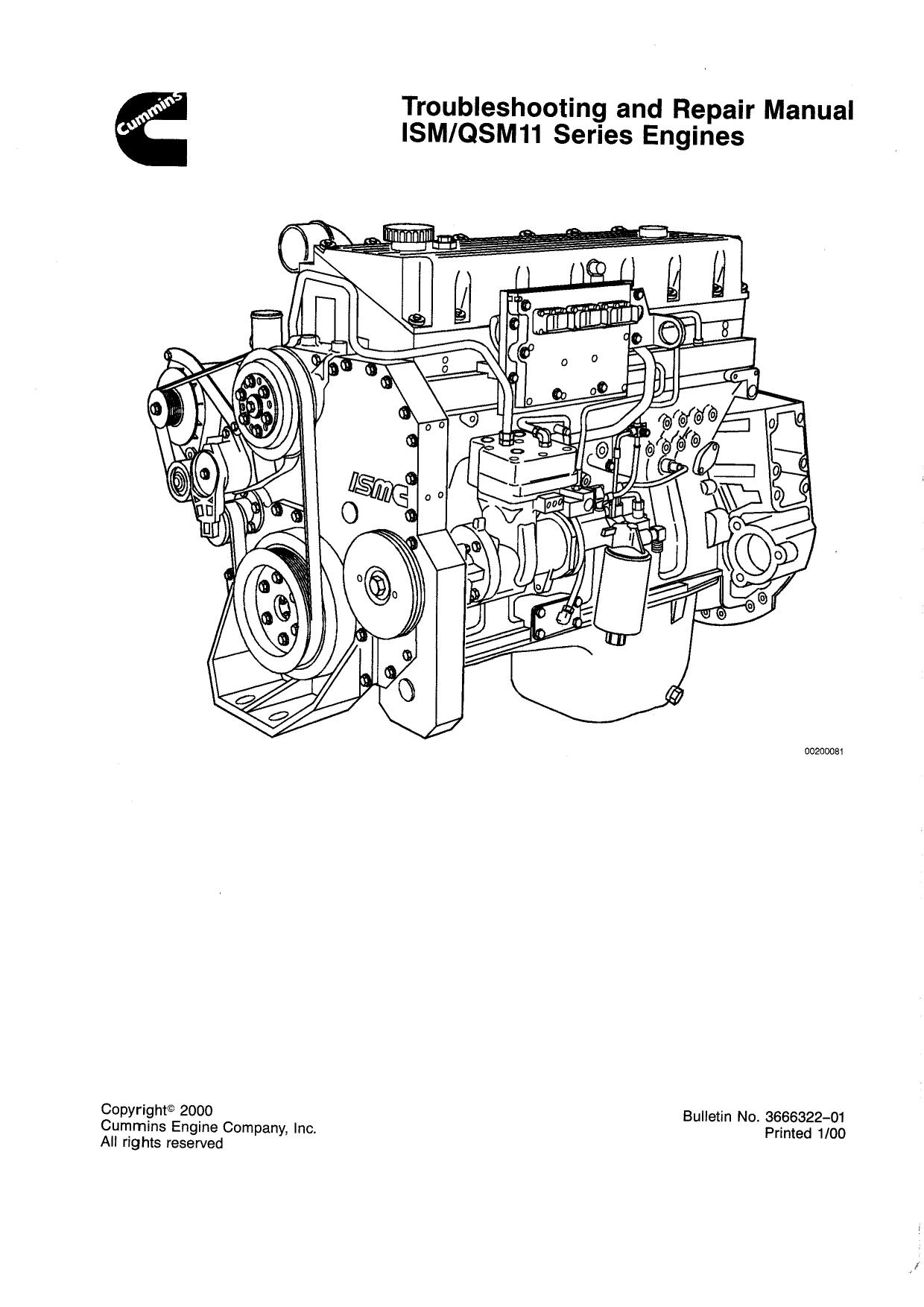 Cummins inc - сервисная документая для двигателя cummins qsm11 2007-2016 г, pdf/djvu, rus