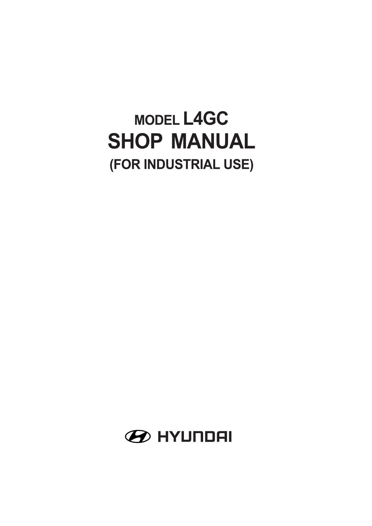 Ремонт и эксплуатация HYUNDAI L4GC