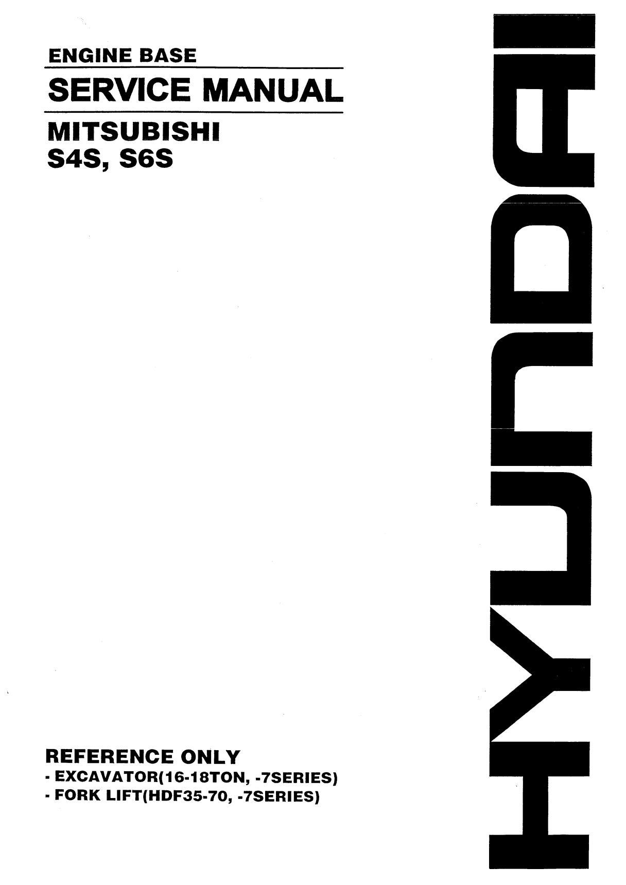 Ремонт и эксплуатация MITSUBISHI S4S, S6S