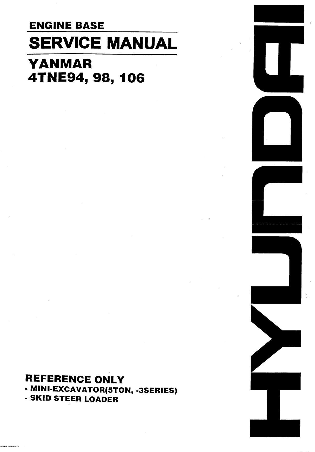 Ремонт и эксплуатация YANMAR 4TNE94, 98, 106