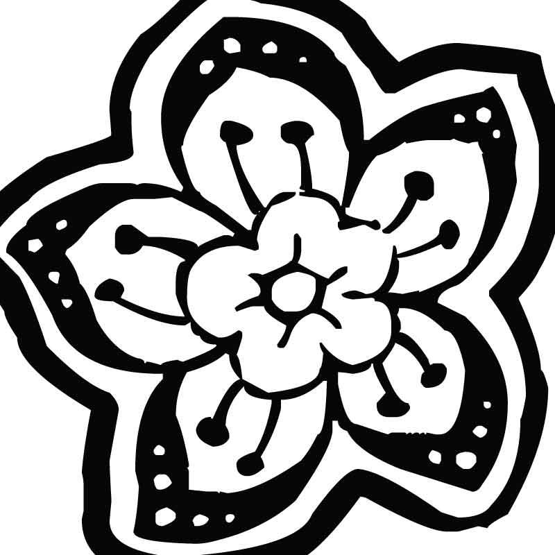 трафареты цветов фото: