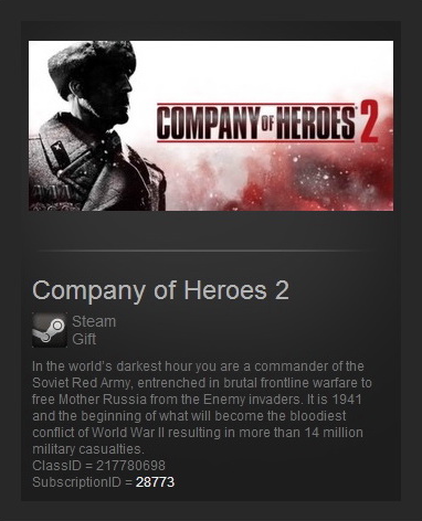 Company of Heroes 2   (Steam Gift / Region Free)